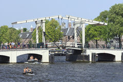 Magere Brug à Amsterdam Photographie stock libre de droits