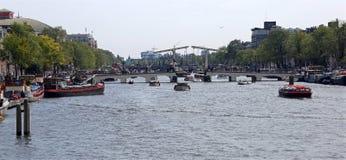 Magere Brug которое значит тощий мост старый мост над r Стоковая Фотография RF