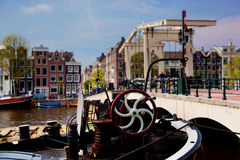 The Magere Brug, Amsterdam. The Magere Brug, Skinny Bridge. Amsterdam, Holland, Netherlands stock photos