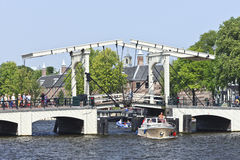 Magere Brug in Amsterdam Stock Afbeelding