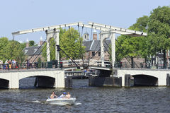 Magere Brug in Amsterdam Stock Fotografie