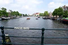 Magere Brug, Amsterdam. Magere Brug is a famous bridge in Amsterdam, The Netherlands stock images