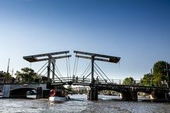 Magere Brug Amsterdam, pont maigre Amsterdam photos libres de droits
