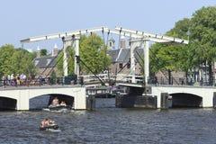 Magere Brug i Amsterdam Royaltyfri Fotografi