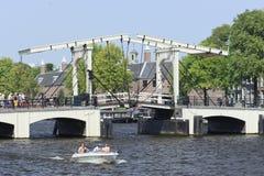 Magere Brug i Amsterdam Arkivbild