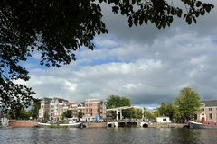 The Magere Brug. In Amsterdam, Netherlands royalty free stock image