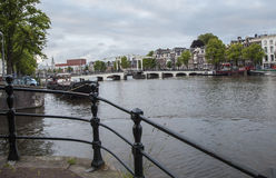 Magere brug (Skinny Bridge) over the Amstel River Royalty Free Stock Images