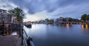 Magere brug (Skinny Bridge) over the Amstel River Stock Photo