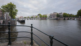 Magere brug (Skinny Bridge) over the Amstel River Stock Image