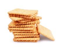 Magere low-calorie koekjes op een witte achtergrond stock fotografie
