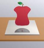 magersüchtiger Apfel Stockbild