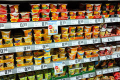 Maggi and Knorr instant meals Stock Photos