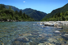 河Maggia 库存照片