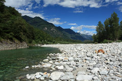 Maggia valley in Ticino Switzerland Royalty Free Stock Photo