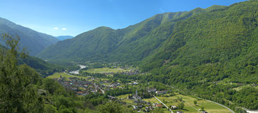 Maggia valley town Royalty Free Stock Photos
