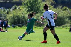 Maggie Duncliffe at the Women`s National League game: Cork City FC vs Galway WFC. May 12th, 2019, Cork, Ireland - Maggie Duncliffe at the Women`s National League stock photos