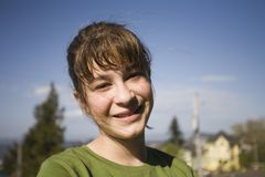 Maggie in Groen Overhemd Royalty-vrije Stock Fotografie