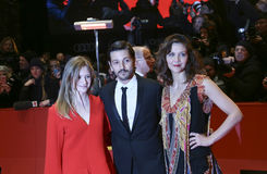 Maggie Gyllenhaal, Diego Luna and Julia Jentsch Royalty Free Stock Photo