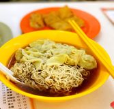 Maggie Mee wanton noodles soup Royalty Free Stock Photo