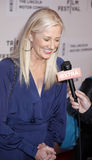 Maggie. New York, NY, USA - April 22, 2015: Joely Richardson attends the World premiere Narrative of Maggie during the 2015 Tribeca Film Festival at BMCC Tribeca Royalty Free Stock Photo