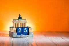 25 maggio ascensione della Germania del calendario fotografie stock