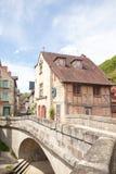 7 maggio 2015, Aubusson, la Creuse, Francia Pont de la Terrade e Fotografia Stock Libera da Diritti