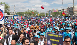 1° maggio a Costantinopoli Fotografie Stock Libere da Diritti