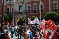 1° maggio dimostrazione 59 Immagini Stock Libere da Diritti