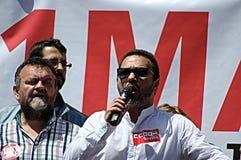 1° maggio dimostrazione 65 Fotografia Stock Libera da Diritti