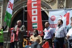 1° maggio dimostrazione. Cantanti 74 di flamenco Fotografia Stock