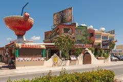 30 maggio 2014: Foto del ristorante messicano Aya Napa cyprus Fotografie Stock Libere da Diritti