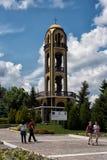 Maggio, 08, 2016 Haskovo, Bulgaria: Il campanile in Haskovo, Bulgaria Fotografie Stock