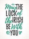 Maggio la fortuna dell'irlandese è con voi illustrazione di stock