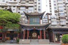 17 maggio 2017 Lanzhou Cina La gente e vecchio distretto nella città di Lanzhou Cina Immagine Stock
