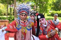 17 maggio 2017 Lanzhou Cina Opera classica in parco pubblico in Lanzhou Cina Fotografia Stock Libera da Diritti