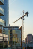 Maggio 2017 - Milano in costruzione - area di Porta Garibaldi Fotografie Stock