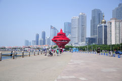 Maggio 4 Qingdao quadrata Cina Fotografia Stock Libera da Diritti
