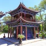 2017 11 maggio, Zhangye Cina Tempiale colorato Fotografie Stock Libere da Diritti