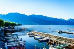 湖maggiore瑞士 库存图片
