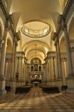 在圣乔治Maggiore教会里面的超级宽看法在威尼斯 图库摄影