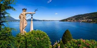 Maggiore del lago Isolabella Fotografie Stock Libere da Diritti