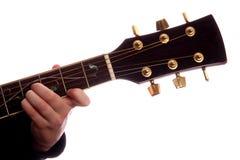 Maggiore della corda B della chitarra Immagine Stock