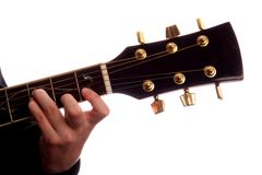 Maggiore della corda F della chitarra Immagini Stock