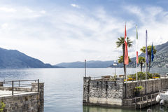 Maggiore lake landscape in Italy Royalty Free Stock Image