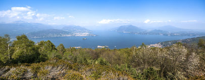 Maggiore Lake, landscape from Mottarone Stock Image