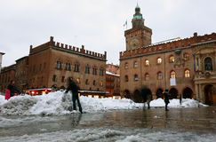 Maggiore square in Bologna Royalty Free Stock Photography
