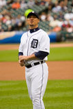 Magglio Ordonez of the Detroit Tigers. Before a game against the Minnesota Twins on August 8, 2009, at Comerica Park Stock Images