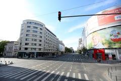 Magheru大道在布加勒斯特 图库摄影