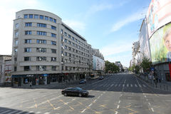 Magheru boulevard in Bucharest Stock Photography