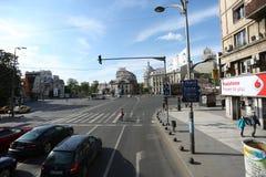 Magheru boulevard in Bucharest Royalty Free Stock Photos
